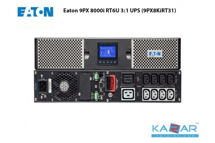 Eaton 9PX 8000i RT6U 3:1 8KVA UPS (9PX8KiRT31) 6U with rack mounting Kit Network UPS