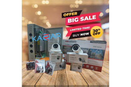 [BOOKING-30%OFF] HIKVISION CCTV 4 Channel + 4 Camera + Installation Package (Normal Price: RM1490)